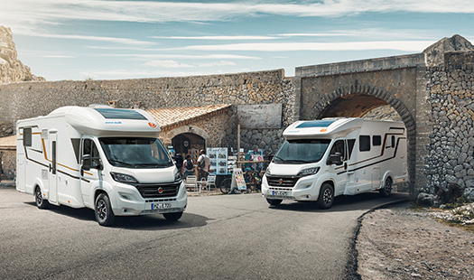 Low-profile motorhomes